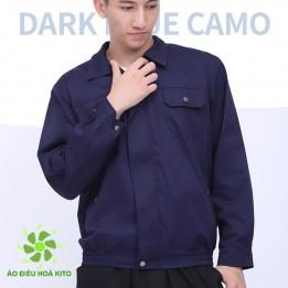 [Áo Rời không phụ kiện] Áo điều hòa Nhật Bản KITO chính hãng, màu xanh than - Áo Có Túi Đá Khô
