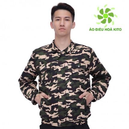 [Áo Rời] Áo điều hòa Nhật Bản KITO chính hãng, màu Rằn Ri - Áo Có Túi Đá Khô