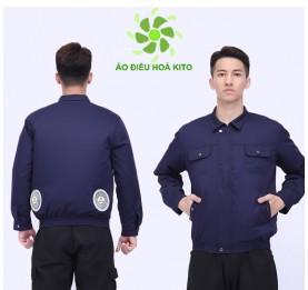 Áo điều hòa Nhật Bản KITO chính hãng ADH03, Pin 10.000mAh, Phiếu BH 1 Năm, Áo Có Túi Đá Khô